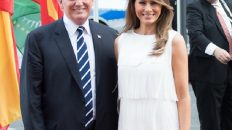 President and First Lady Trump